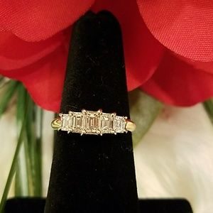Jewelry - **HOLD** 5 STONE 1 CTW EMERALD CUT RING